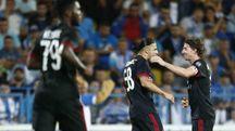 Rodriguez esulta dopo il suo gol (LaPresse)