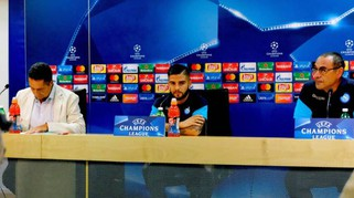 Napoli, Sarri e Insigne in conferenza stampa