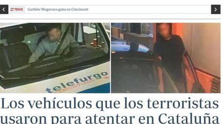 I terroristi coi furgoni vicino a Cambrils una settimana prima (Ansa)