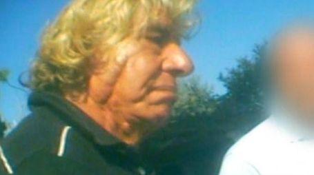 L'ex poliziotto in pensione Giovanni Aiello in un fermo immagine del 2014 (Ansa)