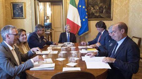 Sisma, la riunione con Gentiloni a Palazzo Chigi (LaPresse)