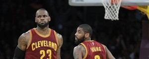 LeBron James e Kyrie Irving (Ansa)