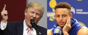 Donald Trump e Stephen Curry (Ansa)