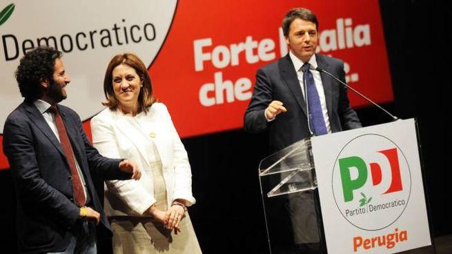 Matteo Renzi a Perugia per sostenere la candidatura di Catiuscia Marini (LaPResse)