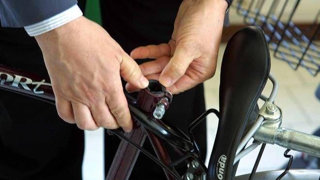 La marchiatura di una bicicletta