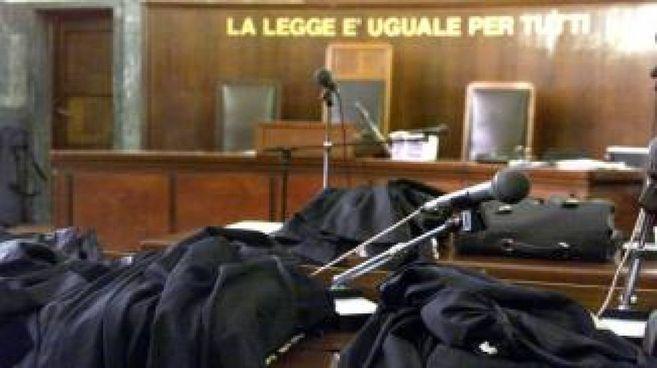 Un'aula di tribunale (Foto d'archivio)