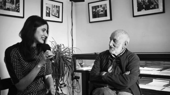 Giulia Morelli con Gianni Berengo Gardin (ph Nicolò Cecchella)