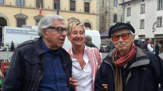 I registi con il direttore del Centro Cinema Turini