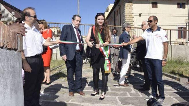 L'inaugurazione del ponte mobile alla Fortezza Vecchia (Novi)