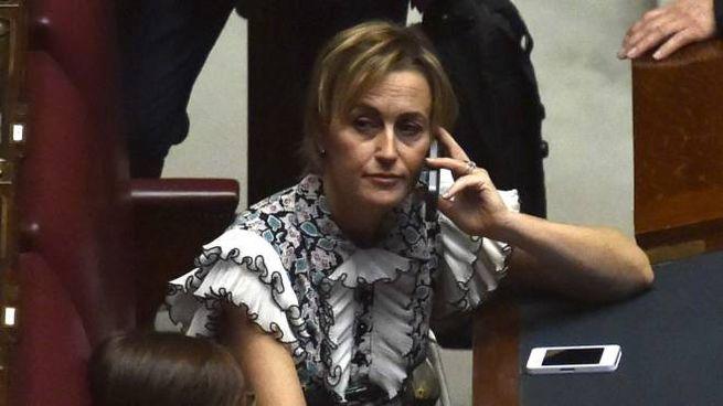 Deborah Bergamini  sui banchi di Forza Italia alla Camera  dei deputati