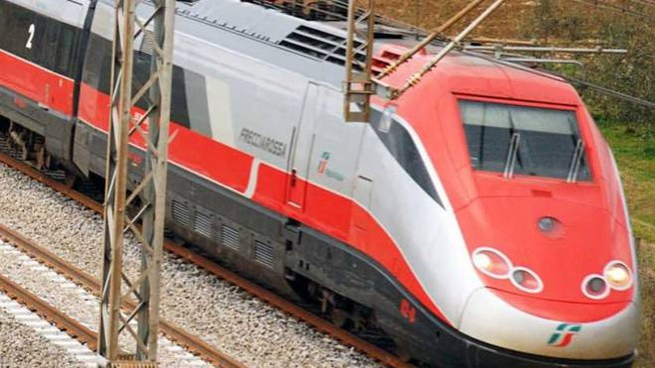 Un treno Freccia Rossa(Foto archivio)