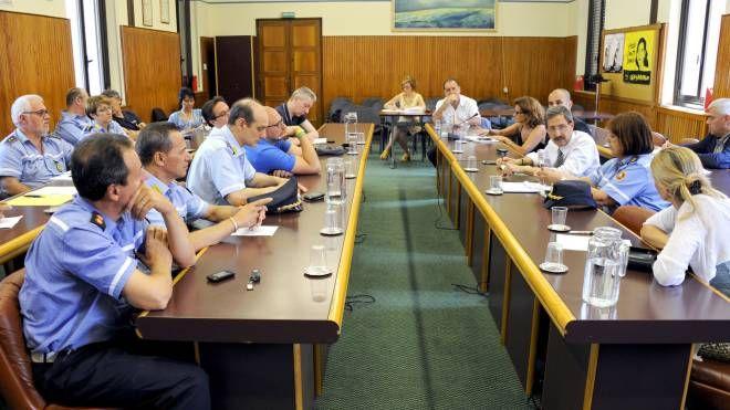 Alla riunione hanno parteciparto istituzioni e forze dell'ordine