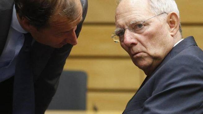 Il ministro delle Finanze tedesco  Wolfgang Schaeuble (Ansa)