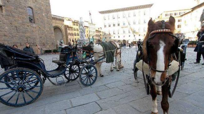 Carrozzelle a Firenze in una foto de La Nazione