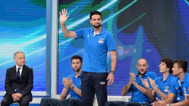 Riccardo Cervi, pivot reggiano di 24 anni, durante il Media Day della Nazionale di lunedì scorso