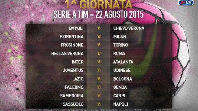 Calendario Serie A Seconda Giornata.Calendario Serie A 2015 2016 Tutte Le Giornate Roma