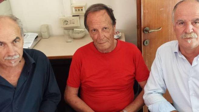 I tre trapiantati iscritti a «Vite onlus» Egiziano Frediani, Mauro Fornesi e Domenico Ceccotti