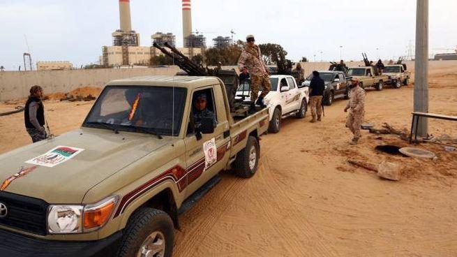 Le truppe dello Stato islamico a Sirte, in Libia (foto d'archivio)