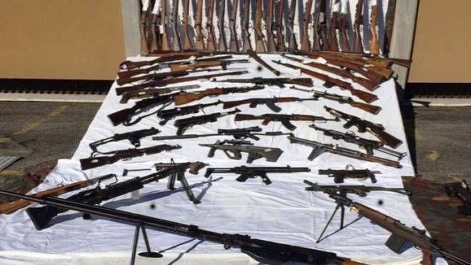 Un sequestro di armi da guerra