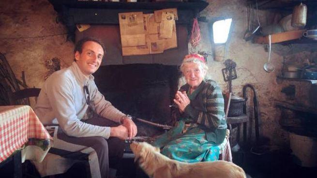 Il sindaco Del Dotto con la signora Eva a Campallorzo