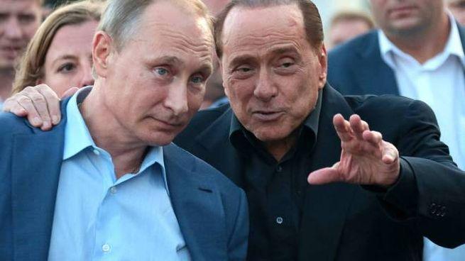 Silvio Berlusconi e Vladimir Putin (Olycom)