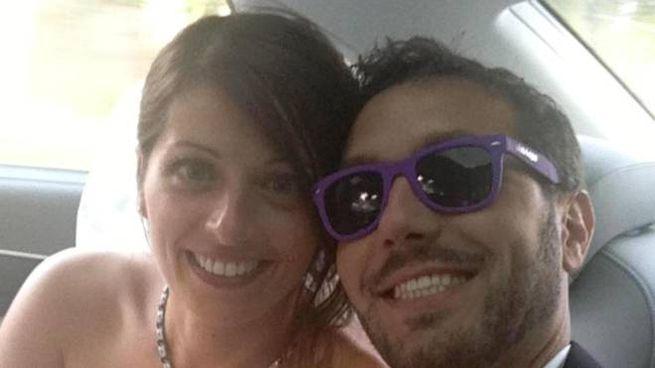 Alice Gruppioni con il marito Christian Casadei