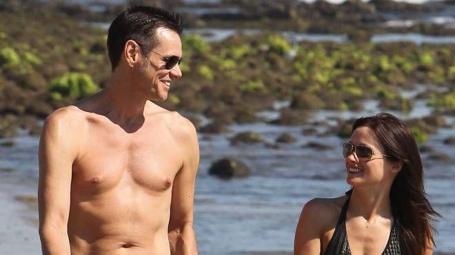 Jim Carrey e Cathriona White ai tempi della loro storia d'amore (LaPresse)