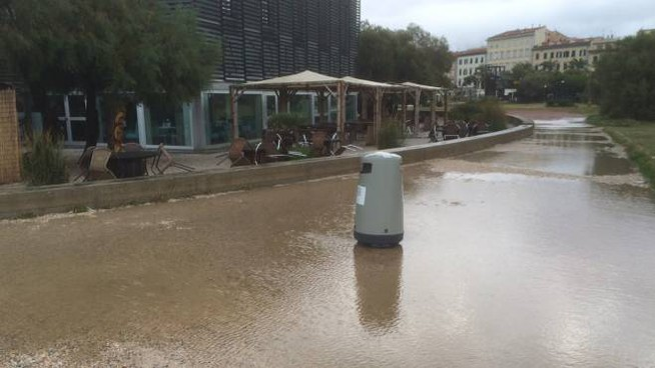 Alluvione a Livorno (Foto Novi)