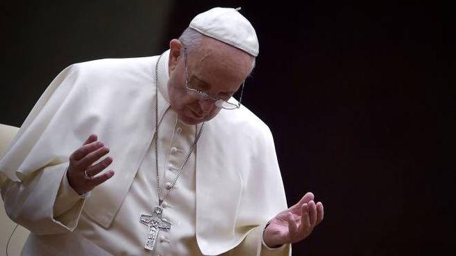 Papa Francesco in preghiera (Spaziani)