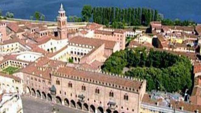 Una veduta di Mantova dal'alto