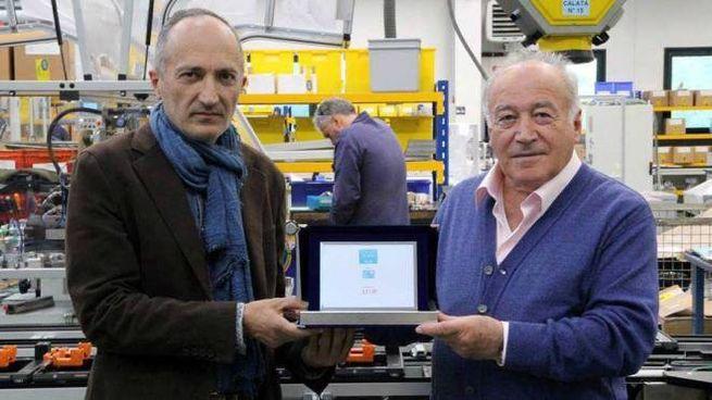 Da sinistra, l'assessore Bandinelli e Luciano Santandrea, presidente Atop (Foto Germogli)