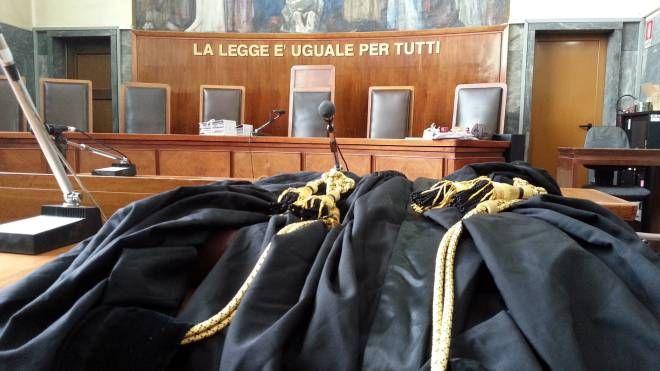 Un'aula di giustizia (foto d'archivio)
