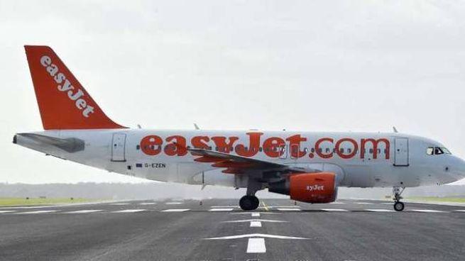 Un aereo Easyjet a Malpensa