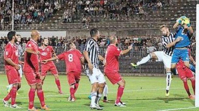 Un momento del derby di Coppa Italia