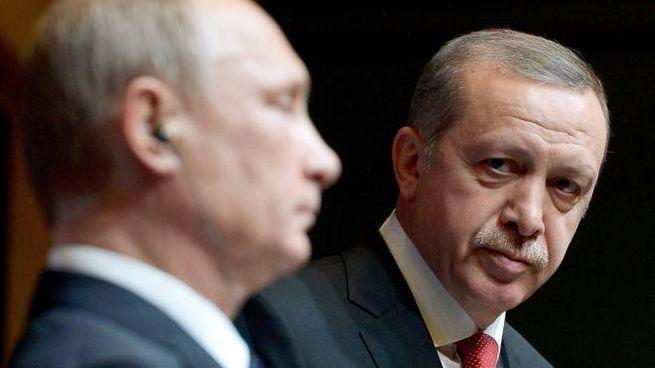 Aereo abbattuto, altissima tensione Erdogan-Putin (Ansa)