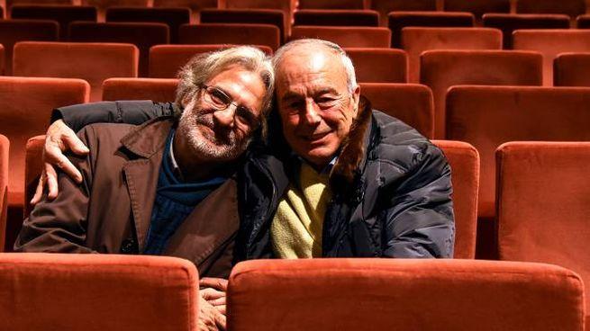 Il regista César Brie con beppino Englaro