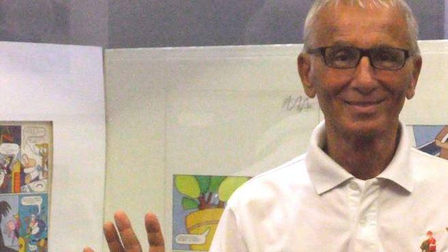 Giuseppe Laganà a Rimini nel luglio 2015 durante la mostra di 'Cartoon Club'