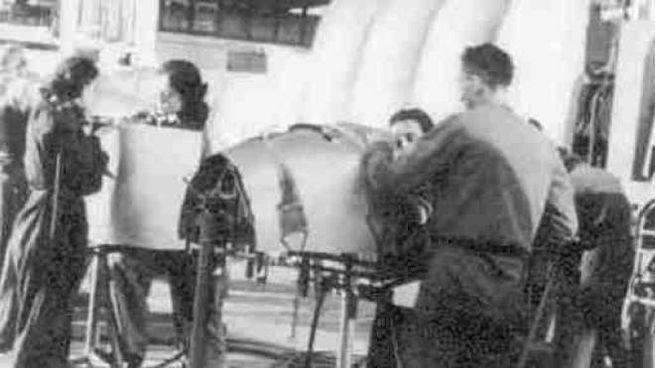 Le Officine Reggiane in una immagine d'epoca