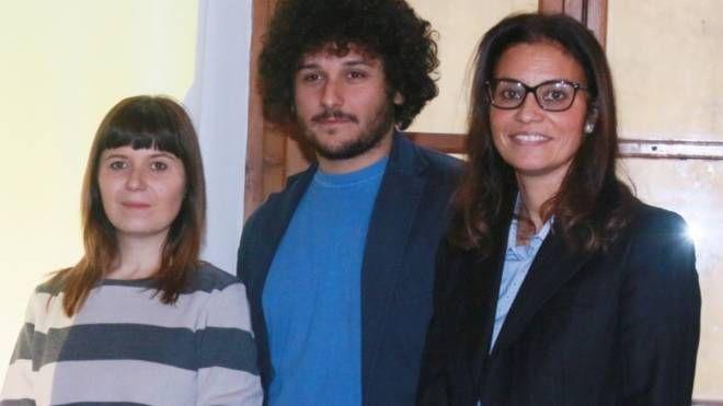 Il sindaco Brenda Barnini, l'assessore Fabio Barsottini e Roberta Scardigli
