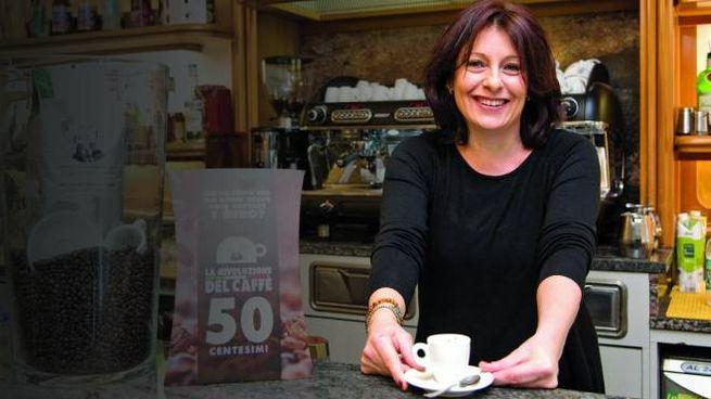 Paola Cavalleri nel suo bar