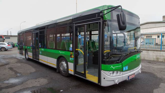 Il primo dei nuovi autobus acquistati da Atm