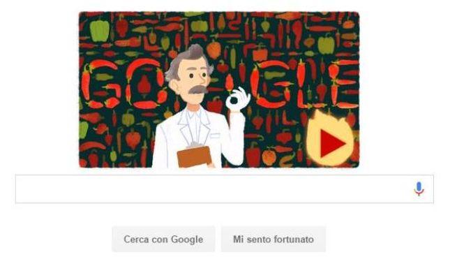 Il doodle di Google dedicato a Wilbur Scoville