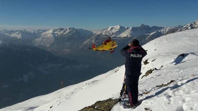 Polizia sulle piste da sci, foto generica
