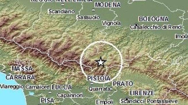 La zona interessata dalle scosse di terremoto (Fonte Ingv.it)