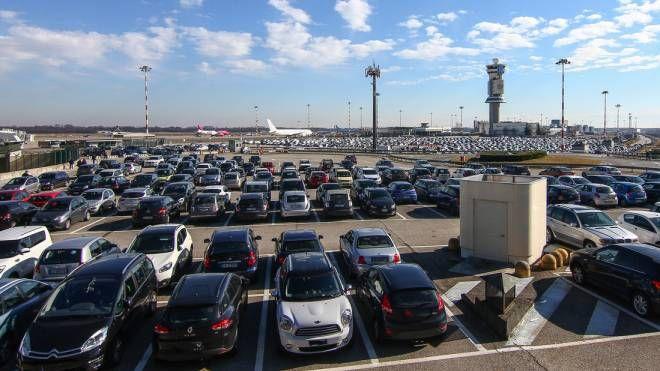 Un parcheggio a Malpensa