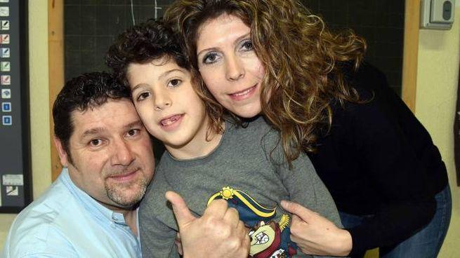 Matteo Trovò con il papà Marco e la mamma Lisa (foto BusinessPress)