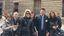 Alcune delle assistenti a Firenze con un rappresentante di Convention Bureau