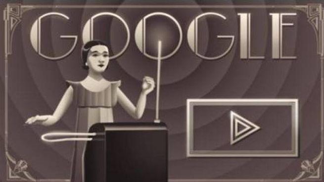 Il doodle dedicato a Clara Rockmore (da google)