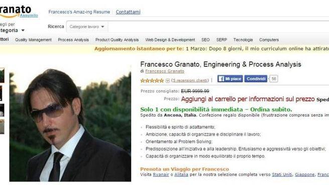 Perde il lavoro e mette online il curriculum in formato Amazon. E ...