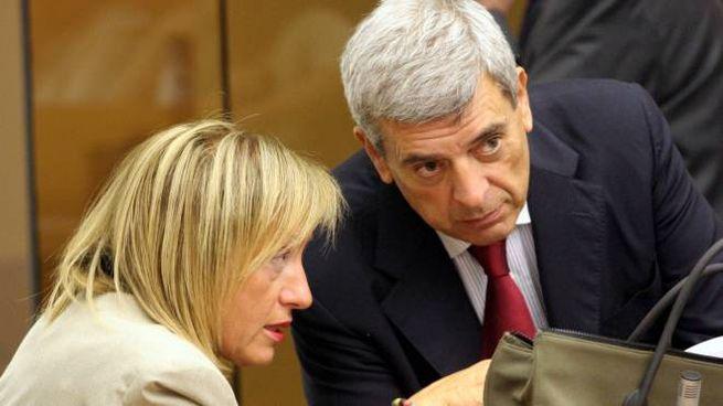 IL PROCESSO L'ex presidente della Regione, Maria Rita Lorenzetti, con l'ex assessore Maurizio Rosi